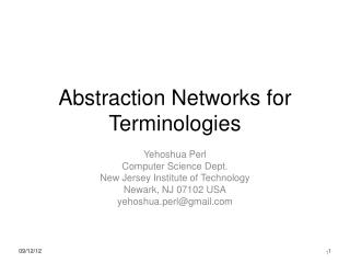 Abstraction Networks for Terminologies