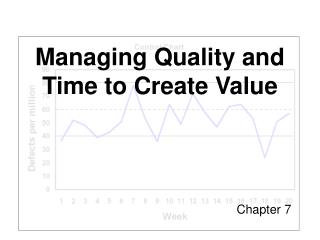 Managing Quality and Time to Create Value