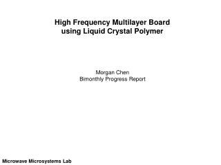 High Frequency Multilayer Board using Liquid Crystal Polymer