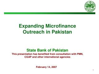 Expanding Microfinance  Outreach in Pakistan  State Bank of Pakistan