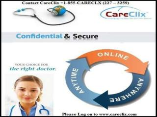 Use care clix telehealth services from anywhere