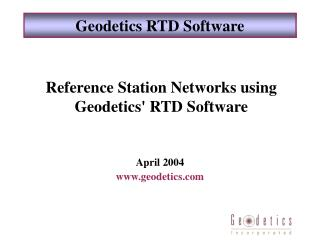 Geodetics RTD Software