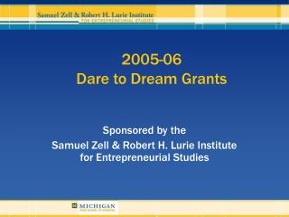 2005-06 Dare to Dream Grants