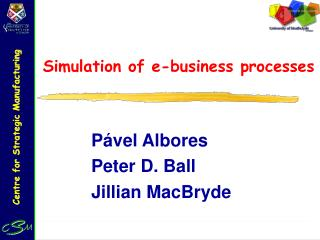 Simulation of e-business processes