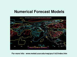 Numerical Forecast Models