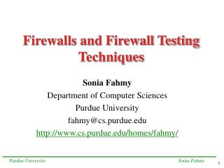 Firewalls and Firewall Testing Techniques