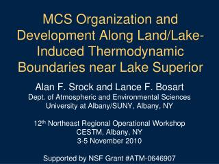 Alan F. Srock and Lance F. Bosart Dept. of Atmospheric and Environmental Sciences