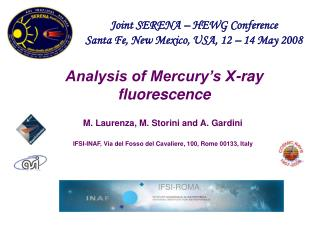 Analysis of Mercury s X-ray fluorescence