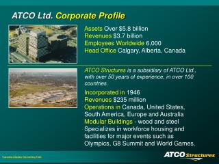 ATCO Ltd.  Corporate Profile