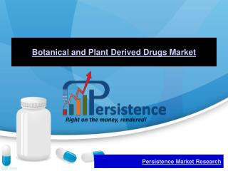 Botanical and Plant Derived Drugs Market - Global Industry A