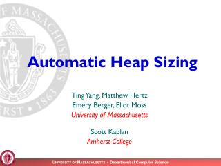 Automatic Heap Sizing