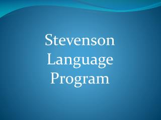 Stevenson Language Program