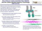 POLYPHILIC CONJUGATED POLYMERS David M. Collard Georgia Institute of Technology DMR-0347832