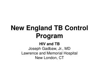 New England TB Control Program