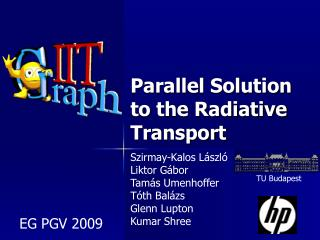 Parallel Solution to the Radiative Transport