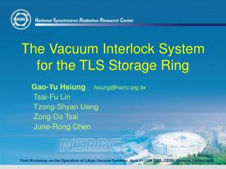 The Vacuum Interlock System for the TLS Storage Ring