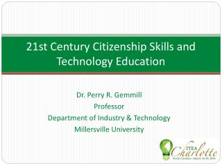 21st Century Citizenship Skills and Technology Education