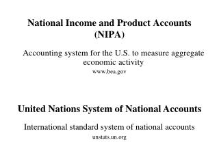 National Income and Product Accounts (NIPA)