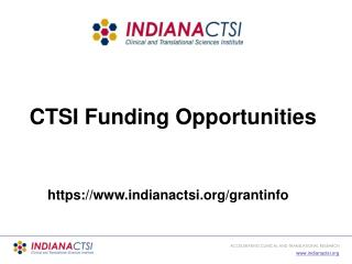 CTSI Funding Opportunities