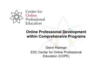 Online Professional Development within Comprehensive Programs