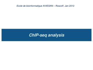 ChIP-seq analysis
