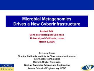 Microbial Metagenomics  Drives a New Cyberinfrastructure