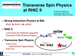 Transverse Spin Physics    	      at RHIC II