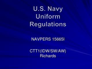 U.S. Navy Uniform Regulations