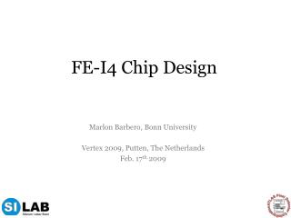 FE-I4 Chip Design
