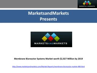 Membrane Bioreactor Systems Market worth $2,927 Million by 2