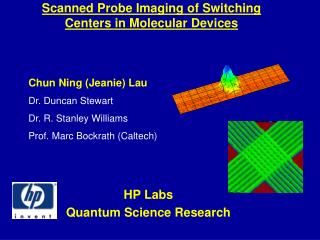 Scanned Probe Imaging of Switching Centers in Molecular Devices