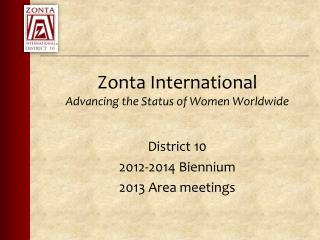 Zonta International  Advancing the Status of Women Worldwide