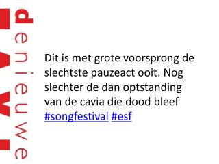 Wie is deze zingende composthoop??? Enggggggggggg  #songfestival #esf
