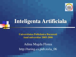 Inteligenta Artificiala