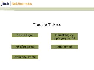 Trouble Tickets
