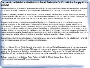 Corcentric to Exhibit at the National Retail Federation's 20