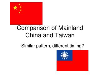 Comparison of Mainland China and Taiwan