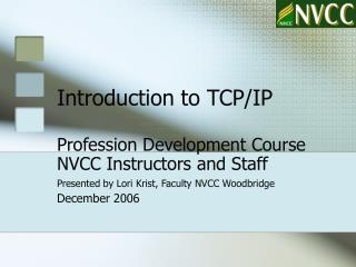 Introduction to TCP/IP