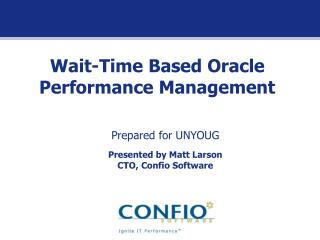 Wait-Time Based Oracle Performance Management