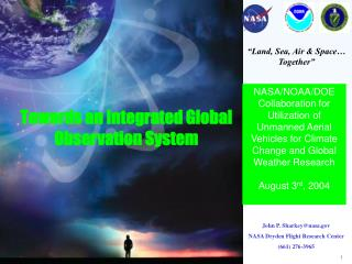 Towards an Integrated Global Observation System