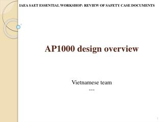 AP1000 design overview
