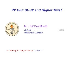 PV DIS: SUSY and Higher Twist