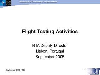 Flight Testing Activities
