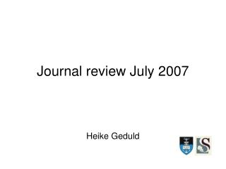 Journal review July 2007