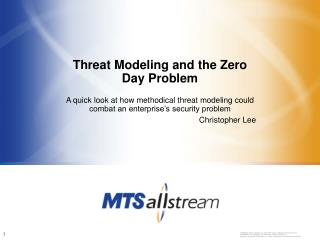 Threat Modeling and the Zero Day Problem