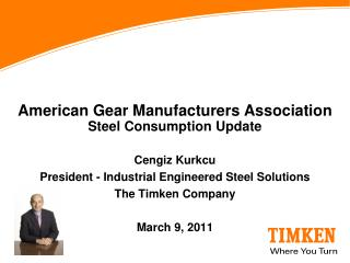 American Gear Manufacturers Association Steel Consumption Update