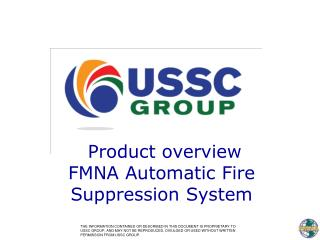 Product overview FMNA Automatic Fire  Suppression System