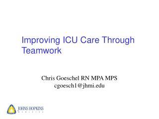 Improving ICU Care Through Teamwork