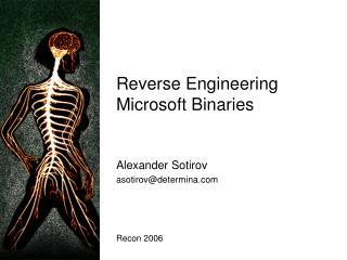 Reverse Engineering Microsoft Binaries
