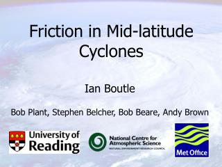 Friction in Mid-latitude Cyclones